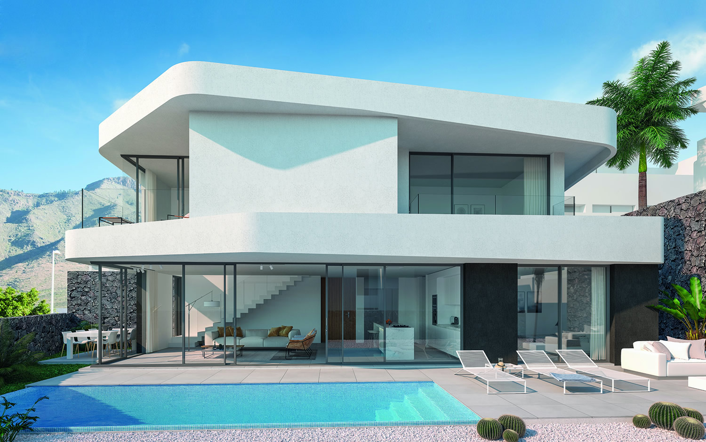 Luxe villa met zwembad in Tenerife