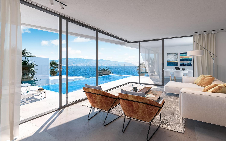Vista interior casa de lujo en Tenerife