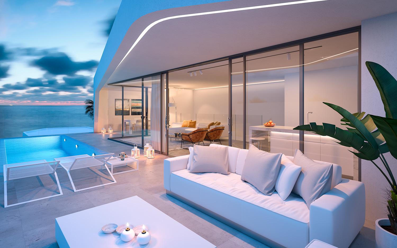 exterior view luxury villa